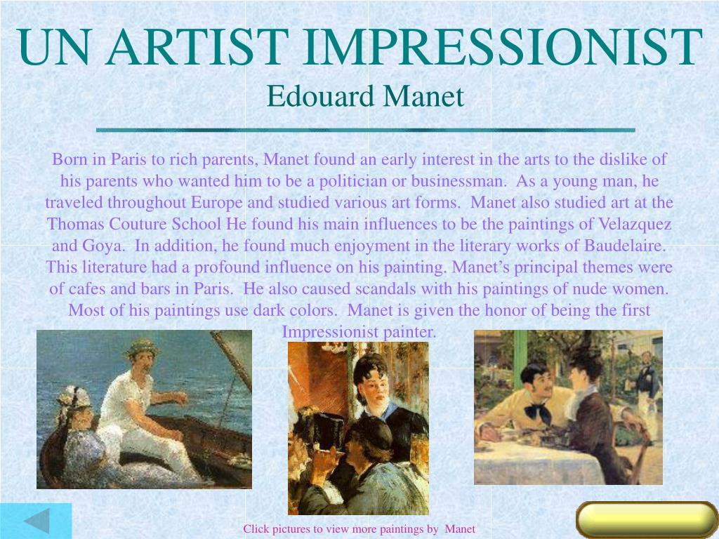 UN ARTIST IMPRESSIONIST