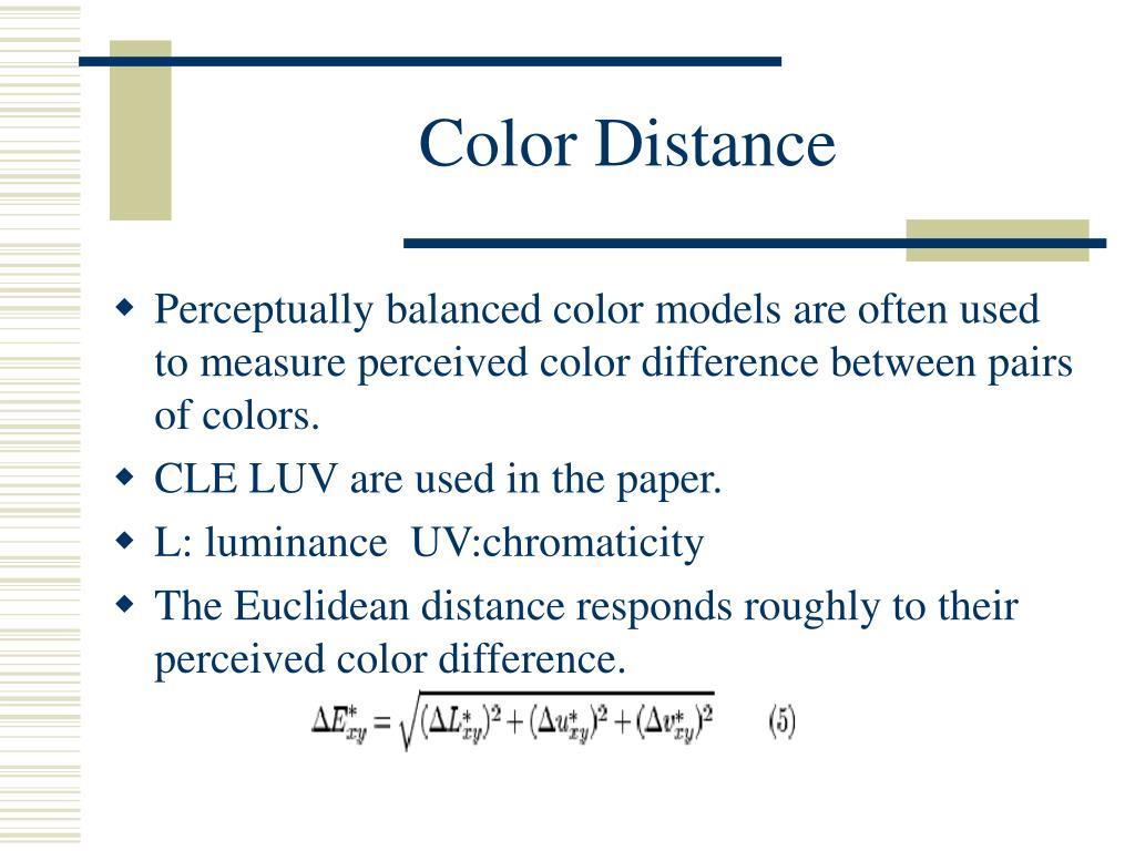 Color Distance