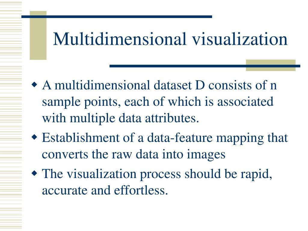 Multidimensional visualization