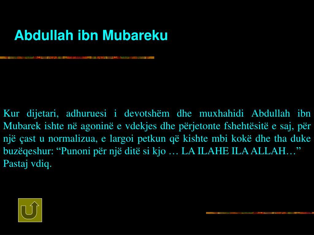 Abdullah ibn Mubareku