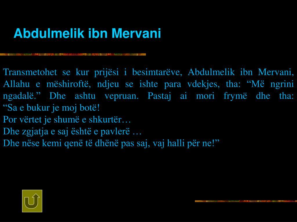Abdulmelik ibn Mervani