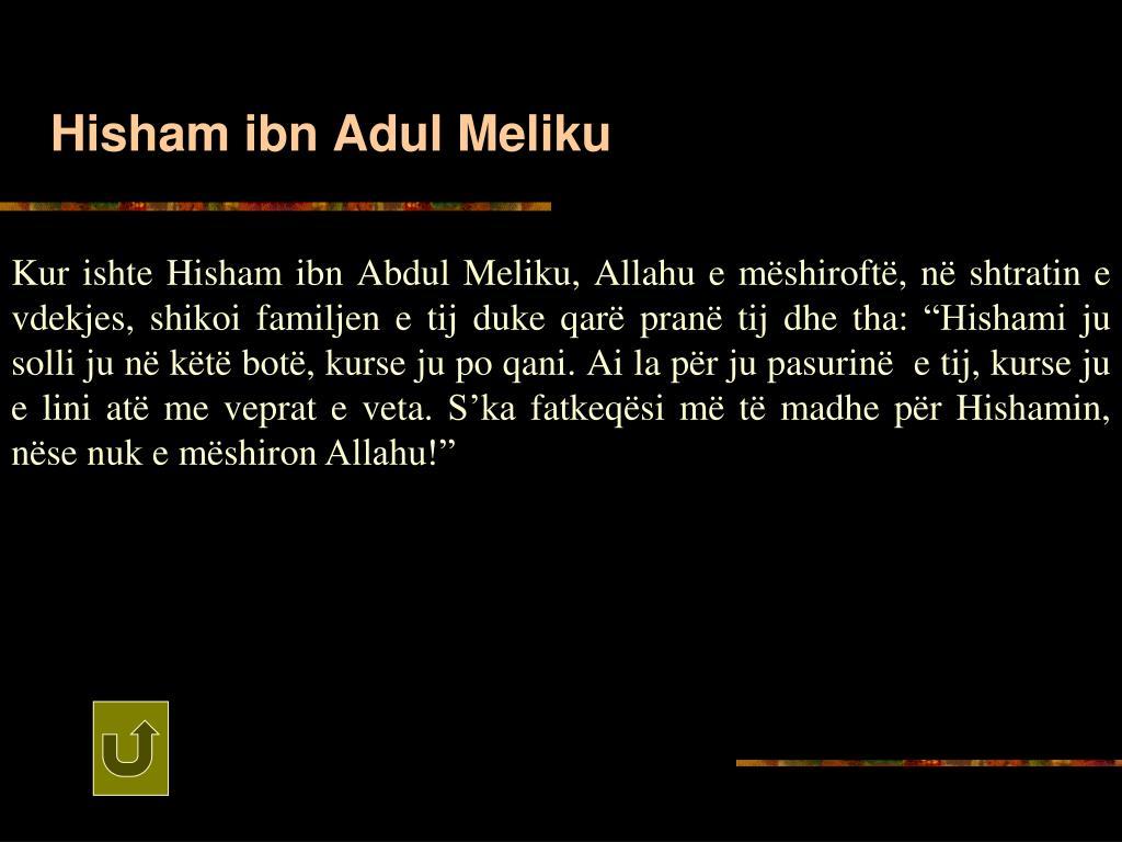 Hisham ibn Adul Meliku