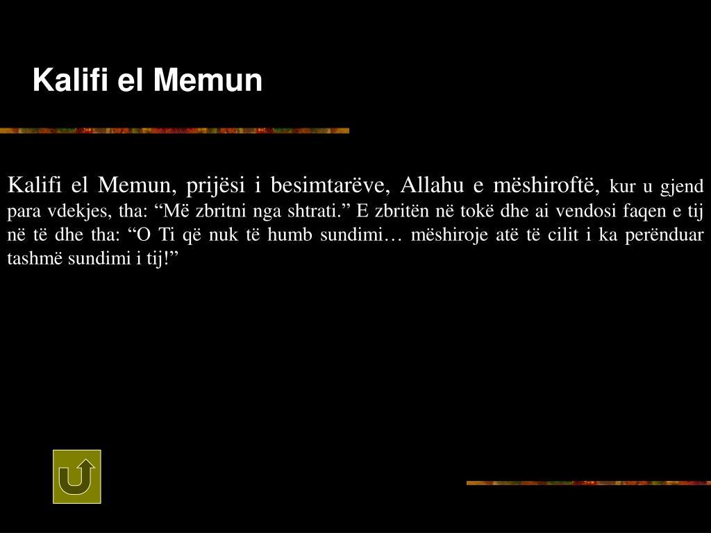 Kalifi el Memun