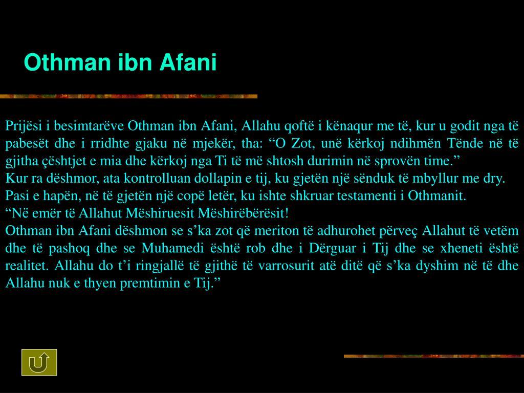 Othman ibn Afani