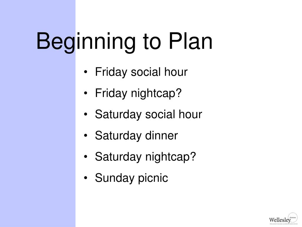 Beginning to Plan