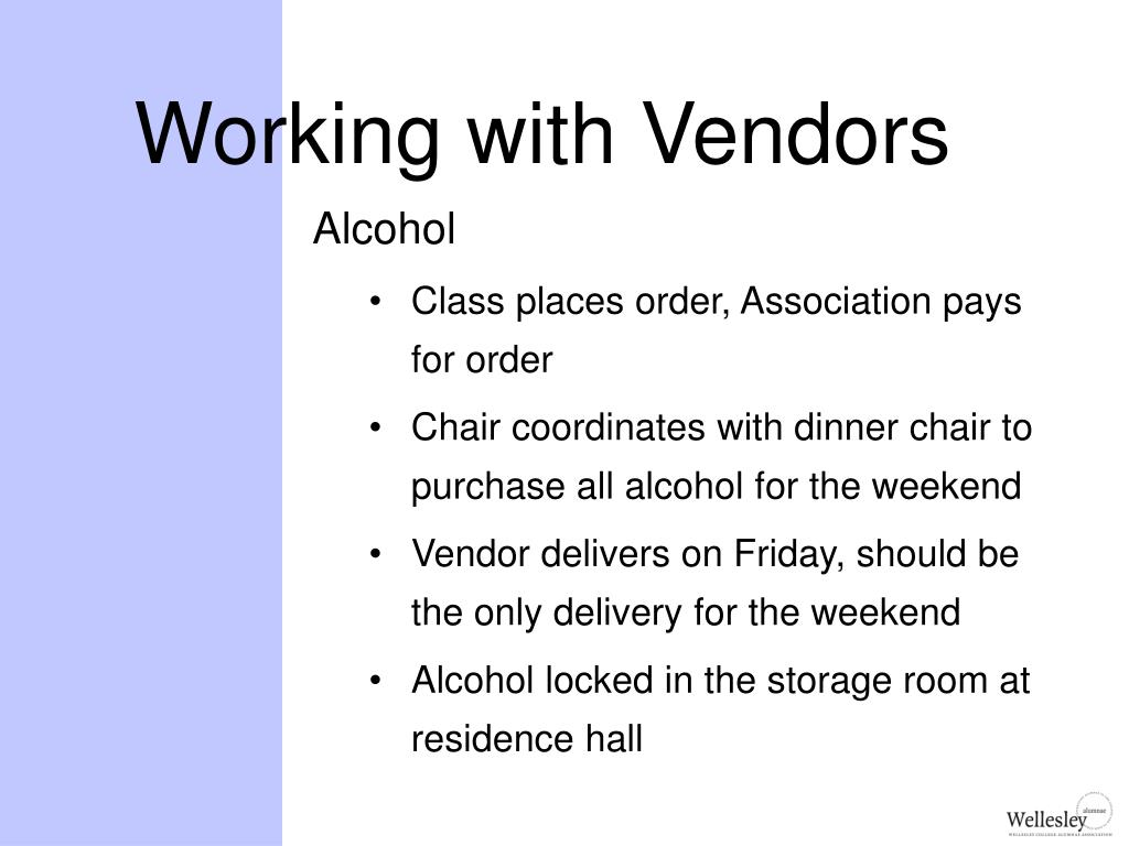 Working with Vendors