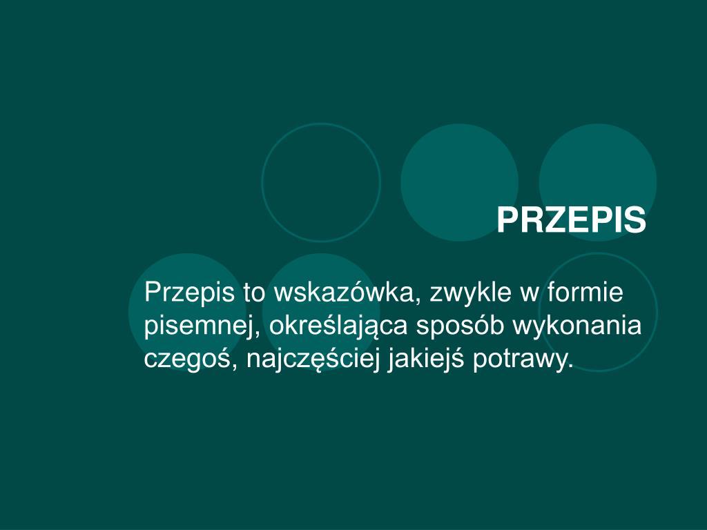 PRZEPIS