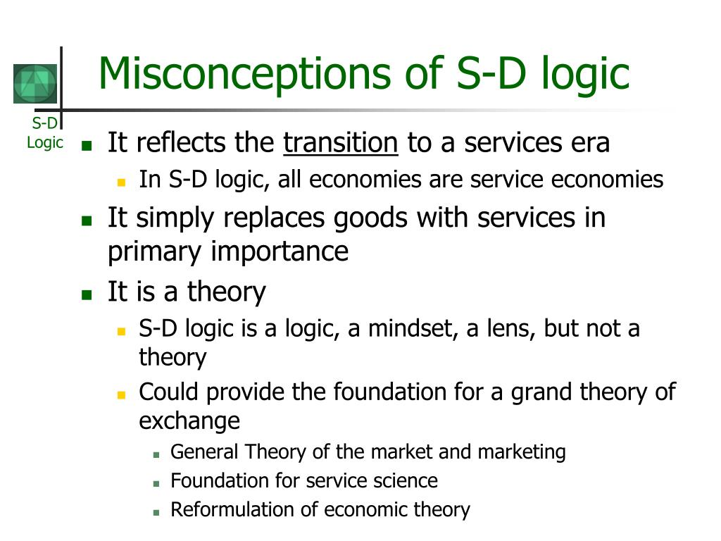Misconceptions of S-D logic