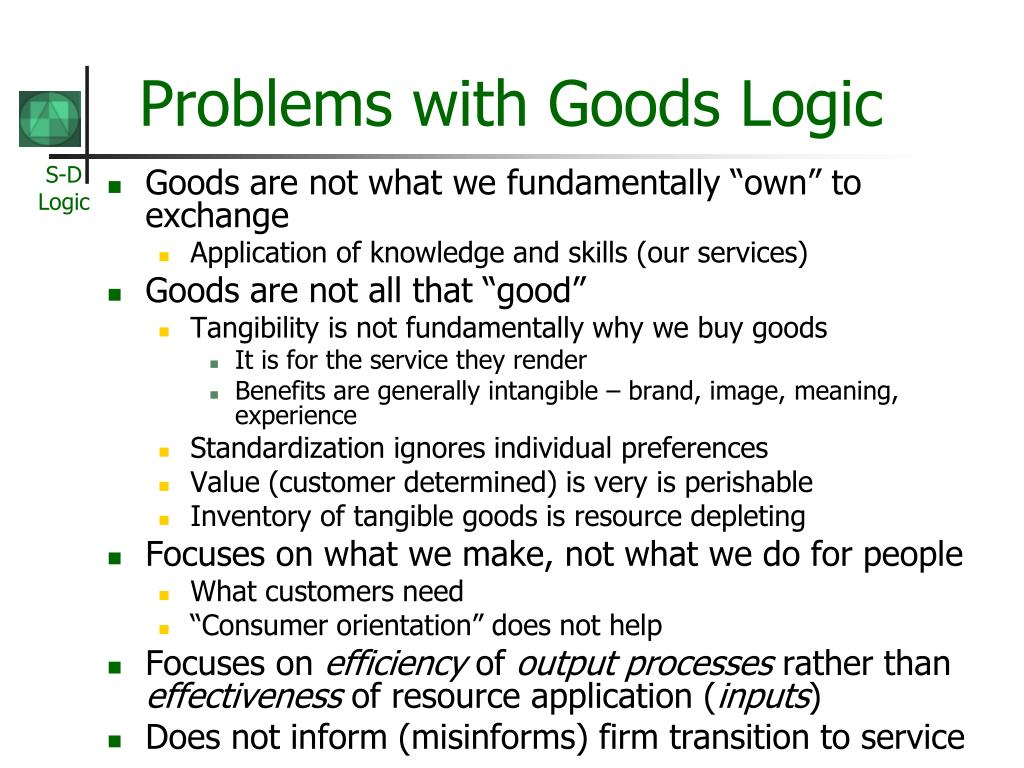 Problems with Goods Logic