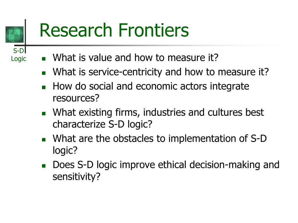 Research Frontiers