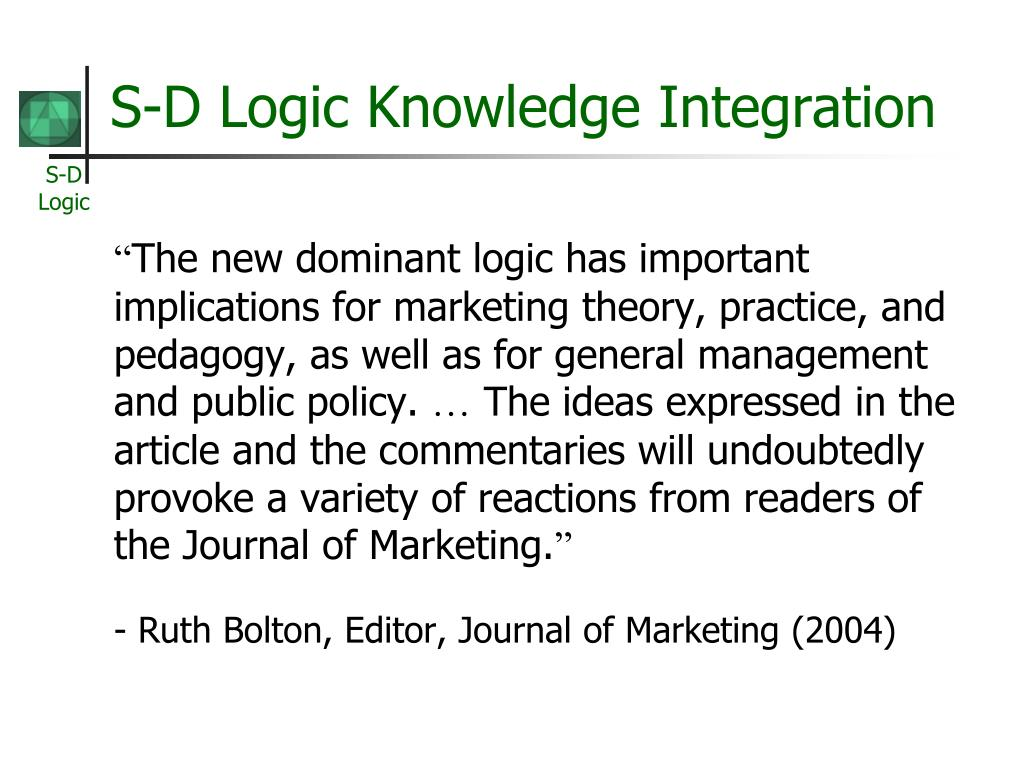 the service dominant logic of marketing literature review and similarities Lisez « the service dominant logic of marketing literature review and similarities with business-to-business marketing » de christina anhäuser avec rakuten kobo bachelor thesis from the year 2011 in the subject business economics - marketing, corporate communication, crm, market r.