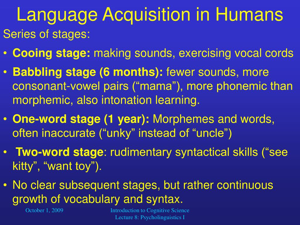 Language Acquisition in Humans