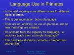 language use in primates