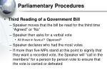 parliamentary procedures36