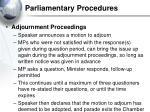 parliamentary procedures37