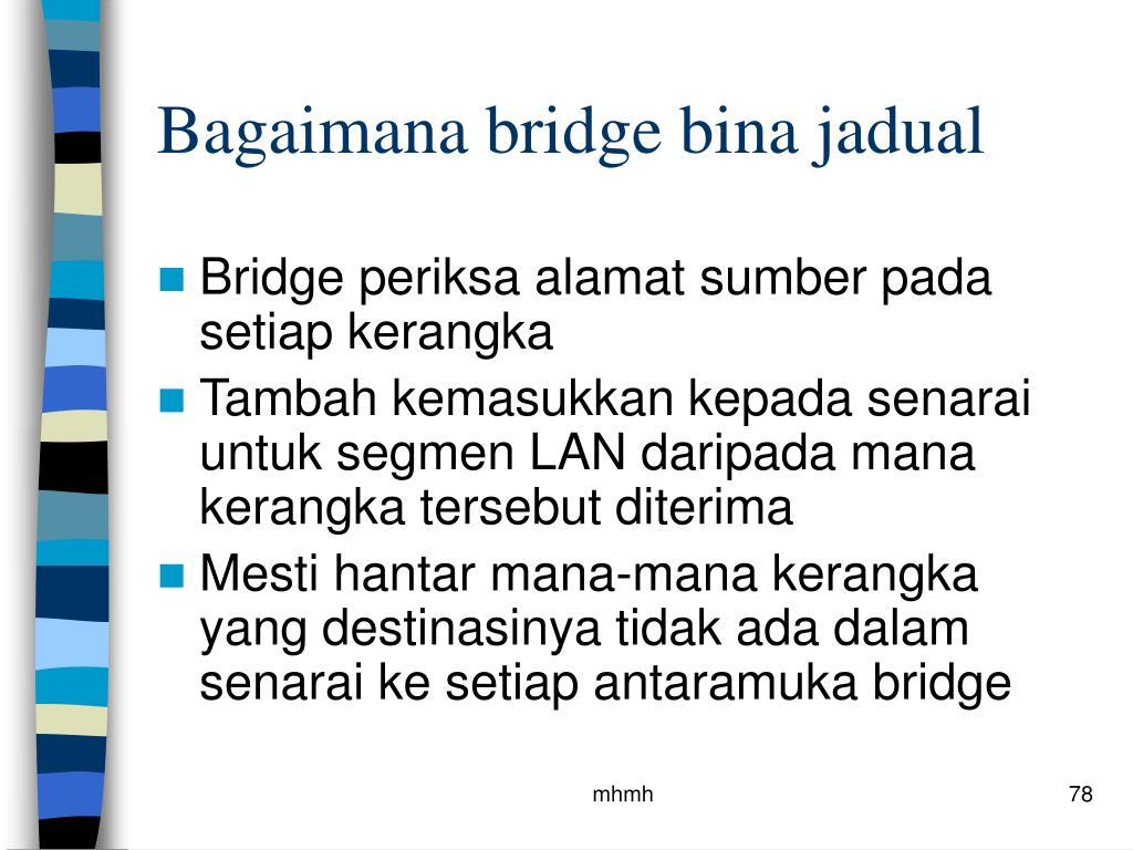 Bagaimana bridge bina jadual