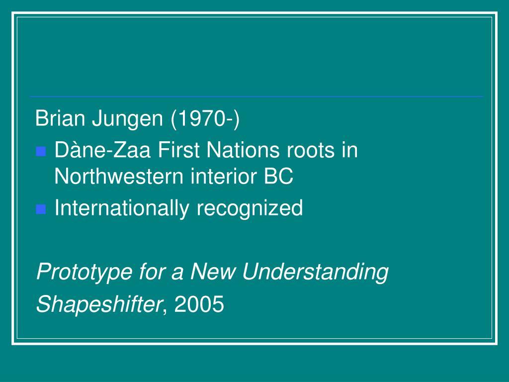 Brian Jungen (1970-)