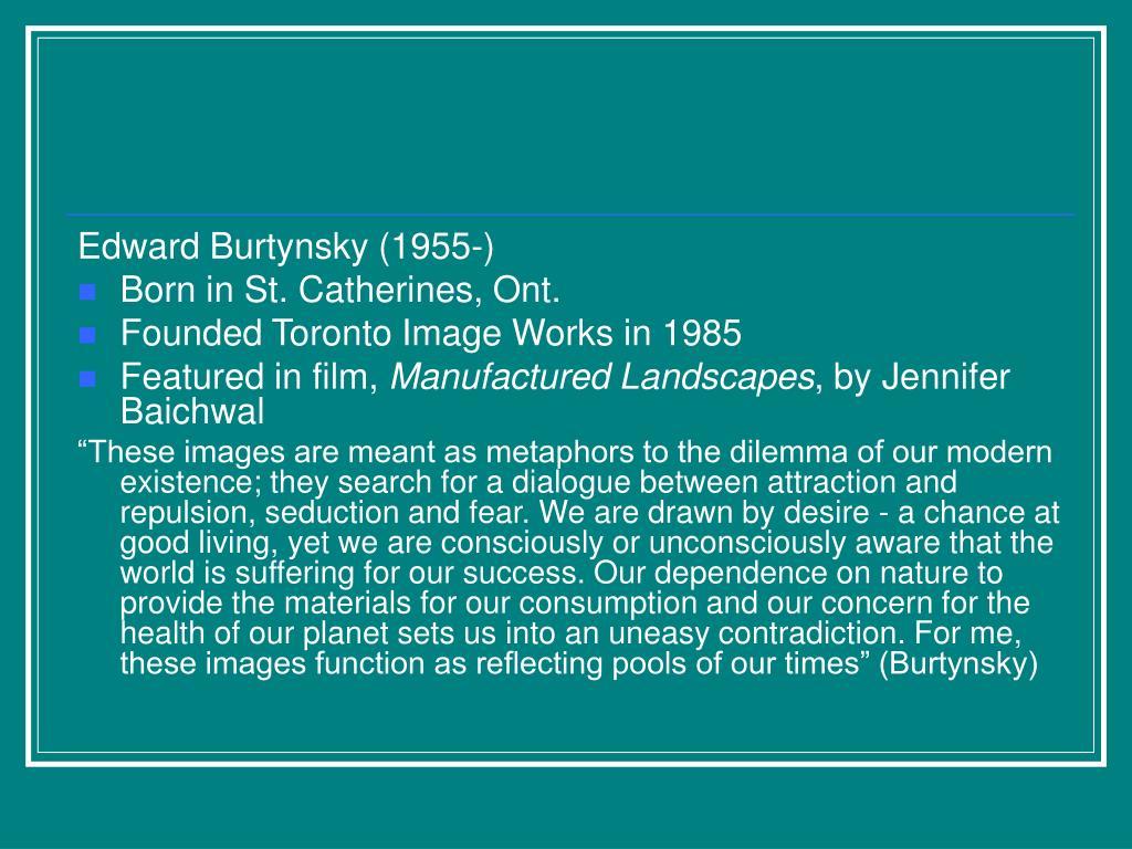 Edward Burtynsky (1955-)