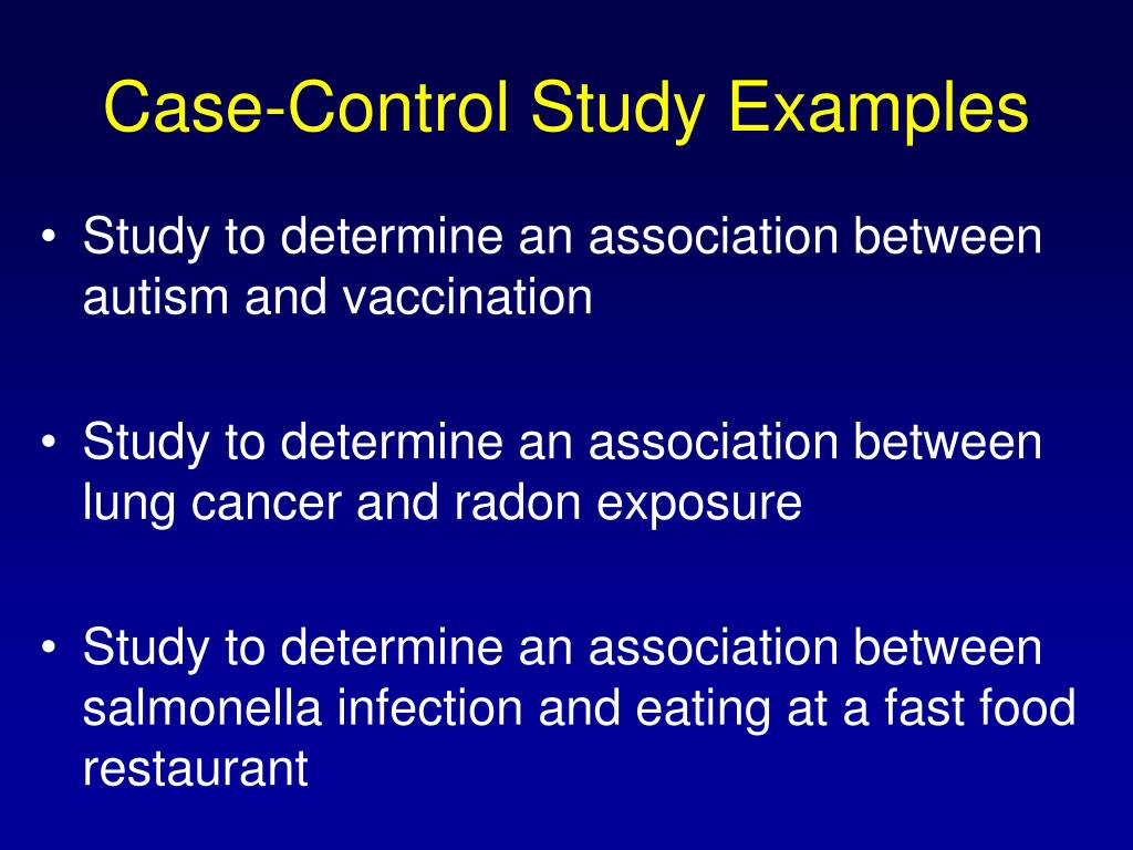 Case-Control Study Examples