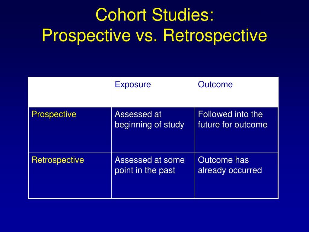 Cohort Studies: