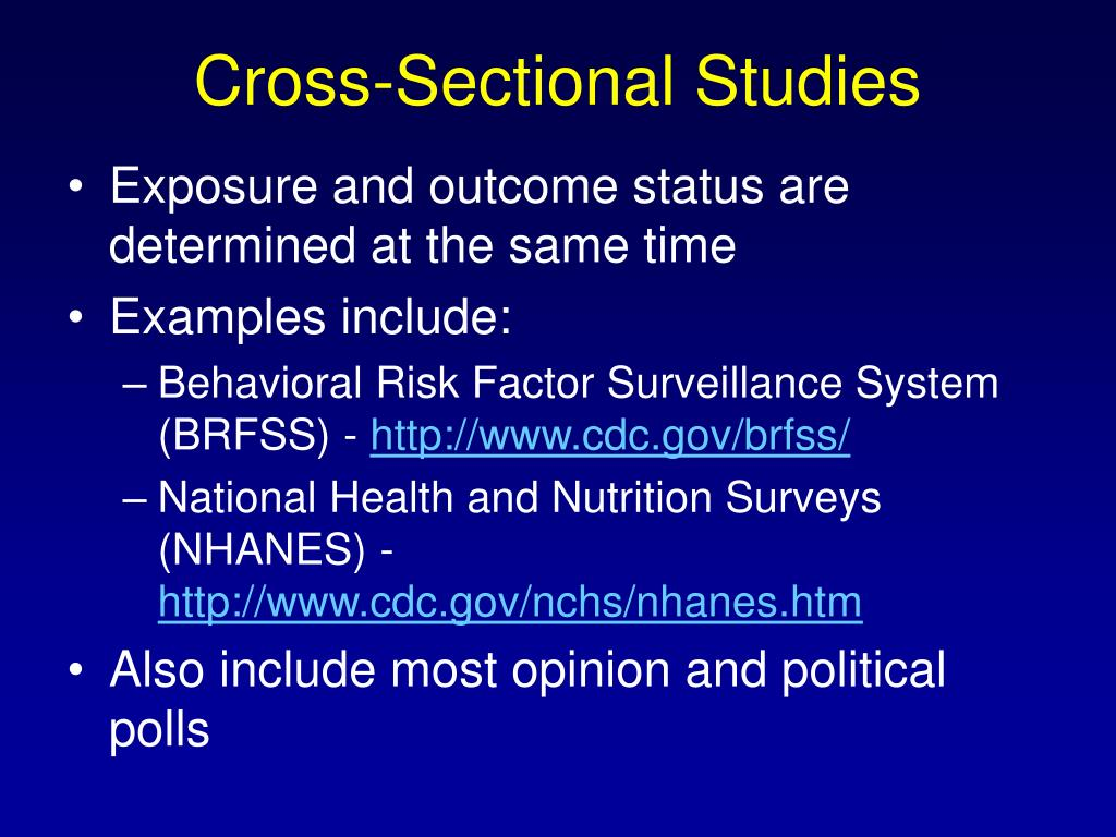 Cross-Sectional Studies