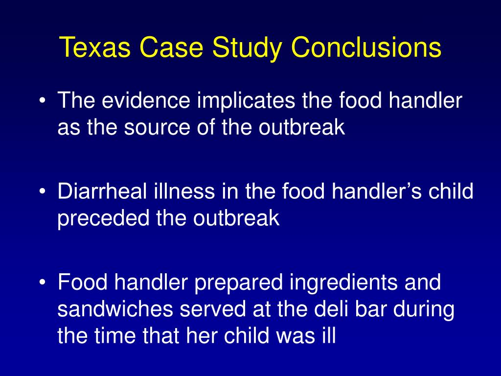Texas Case Study Conclusions