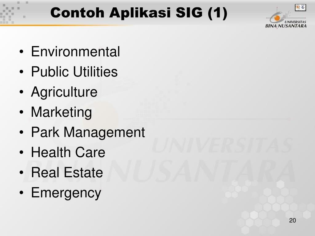Contoh Aplikasi SIG (1)