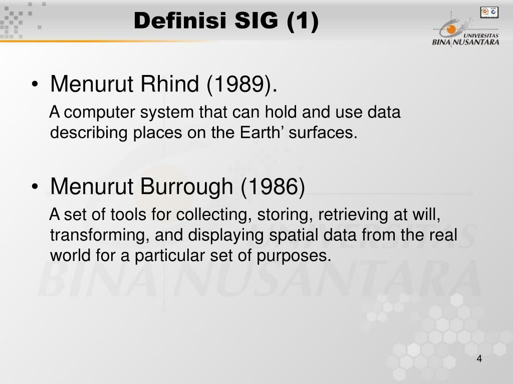Definisi SIG (1)