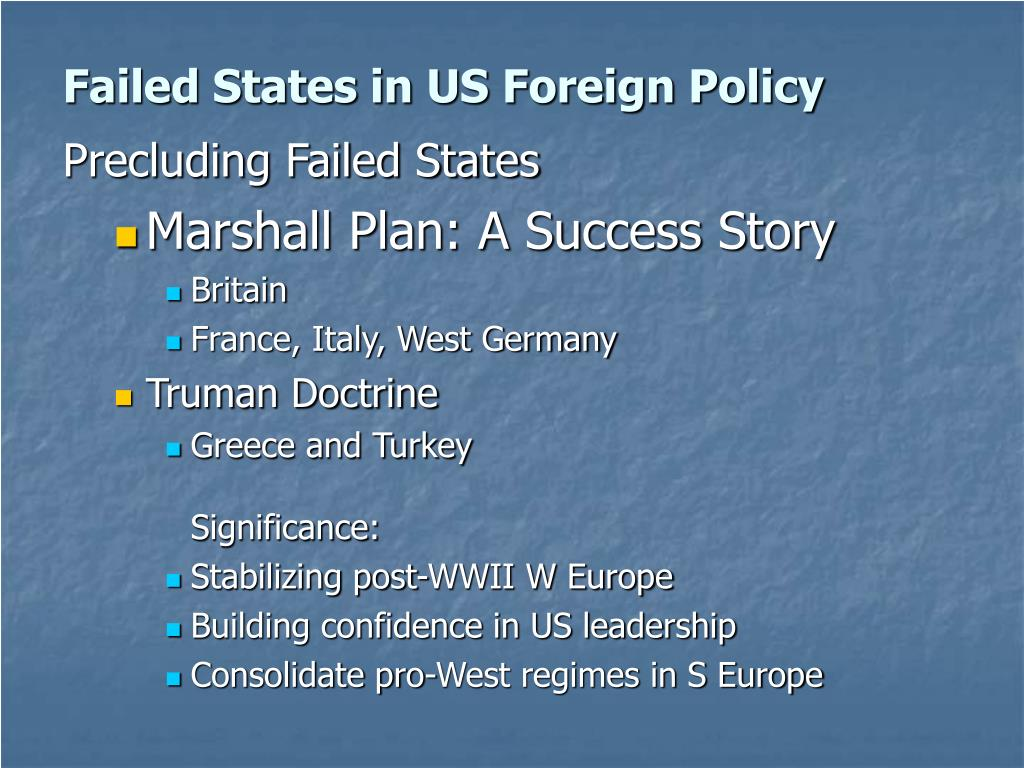 Failed States in US Foreign Policy
