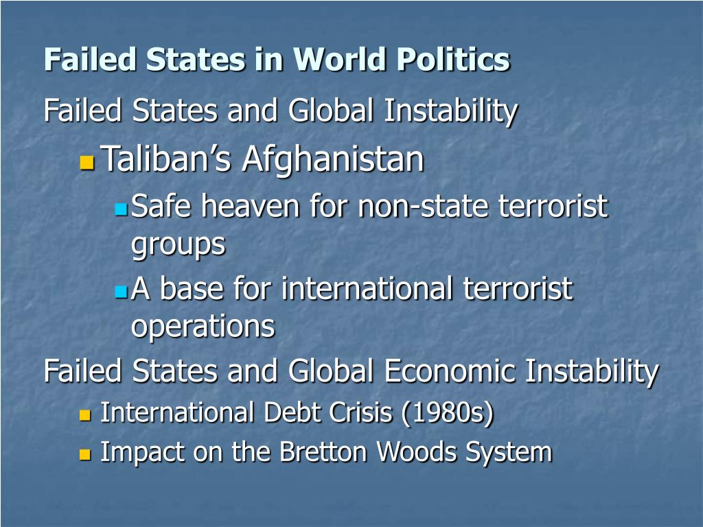 Failed States in World Politics
