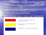 colours and their impressions