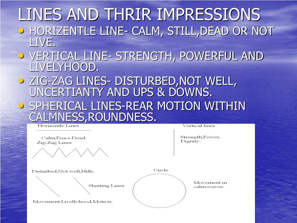 LINES AND THRIR IMPRESSIONS