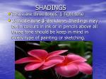 shadings