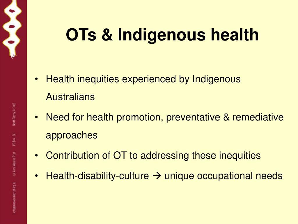 OTs & Indigenous health
