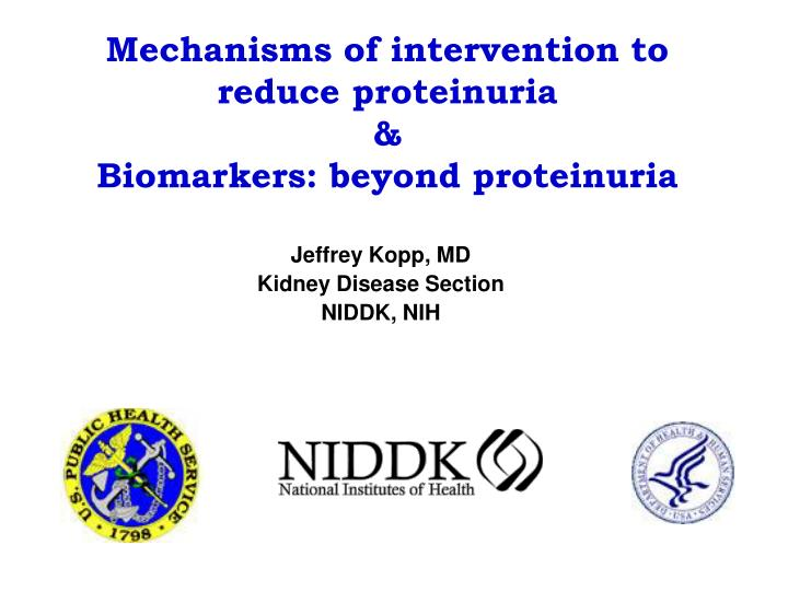 Mechanisms of intervention to reduce proteinuria biomarkers beyond proteinuria l.jpg