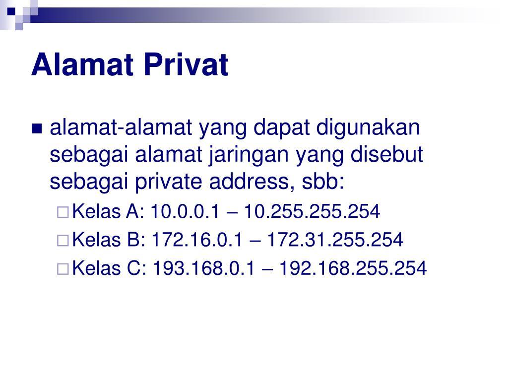 Alamat Privat