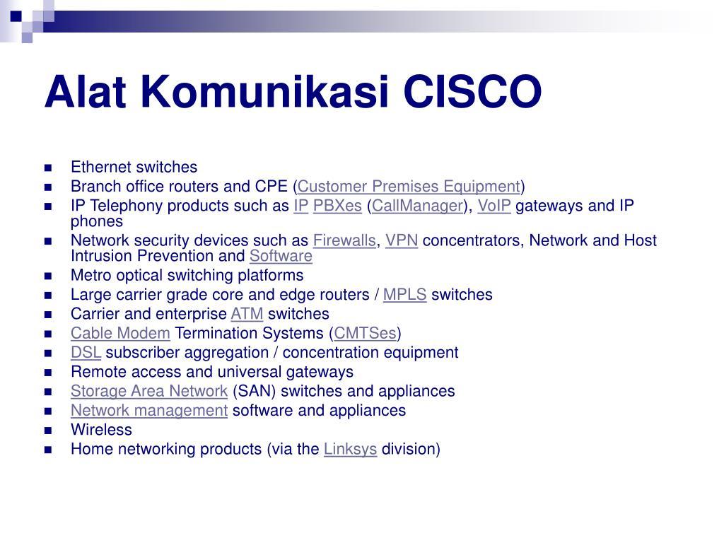 Alat Komunikasi CISCO