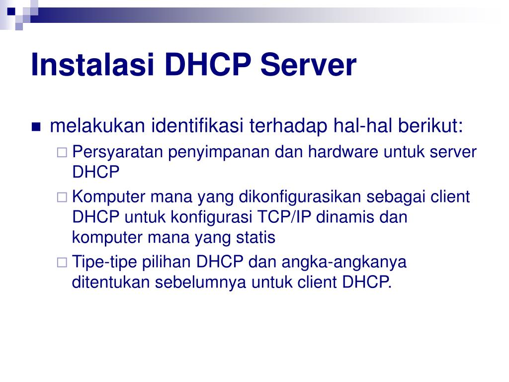 Instalasi DHCP Server