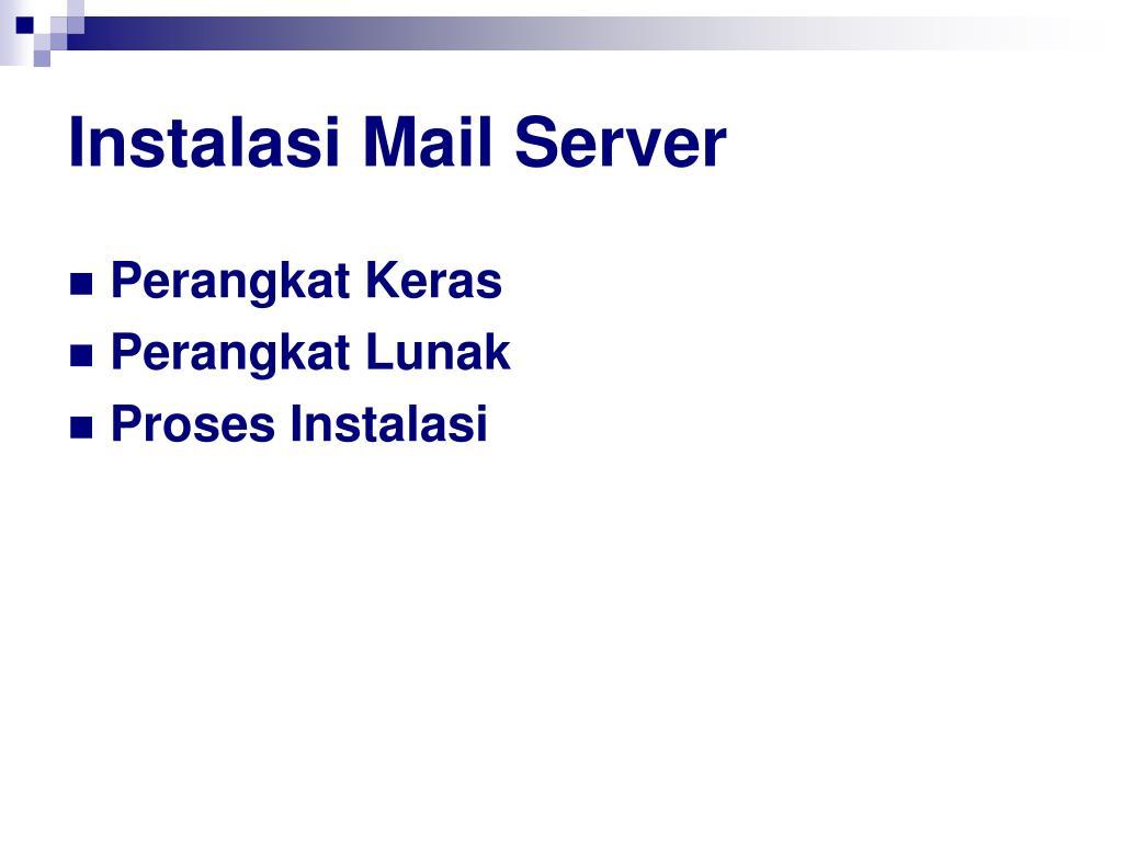 Instalasi Mail Server