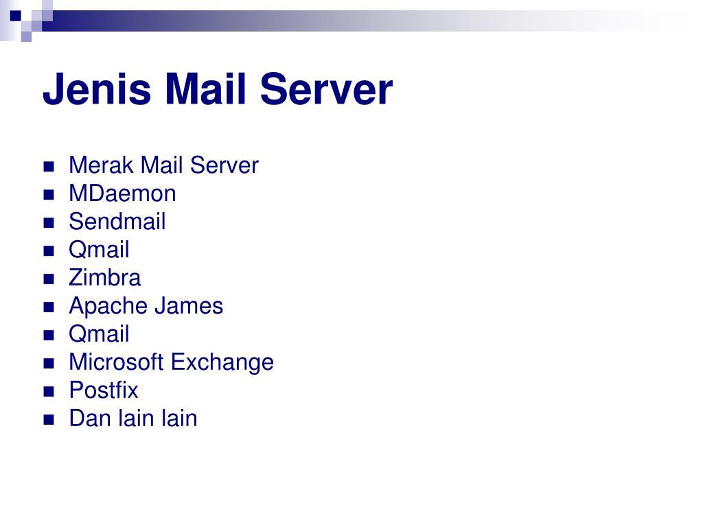 Jenis Mail Server