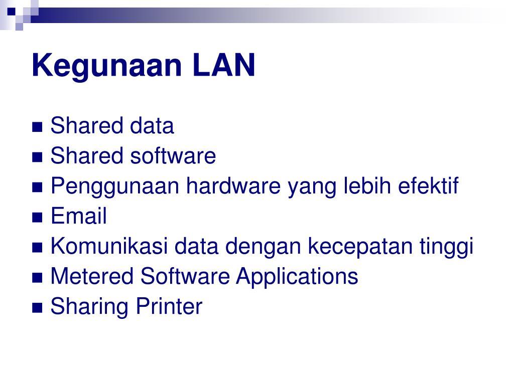 Kegunaan LAN