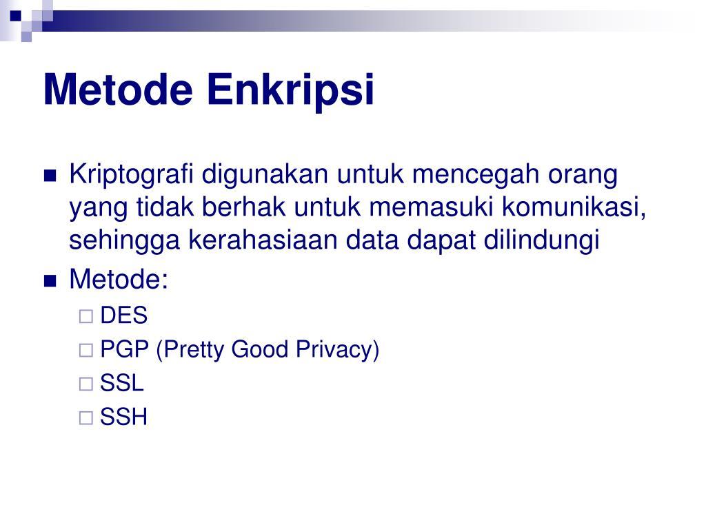Metode Enkripsi