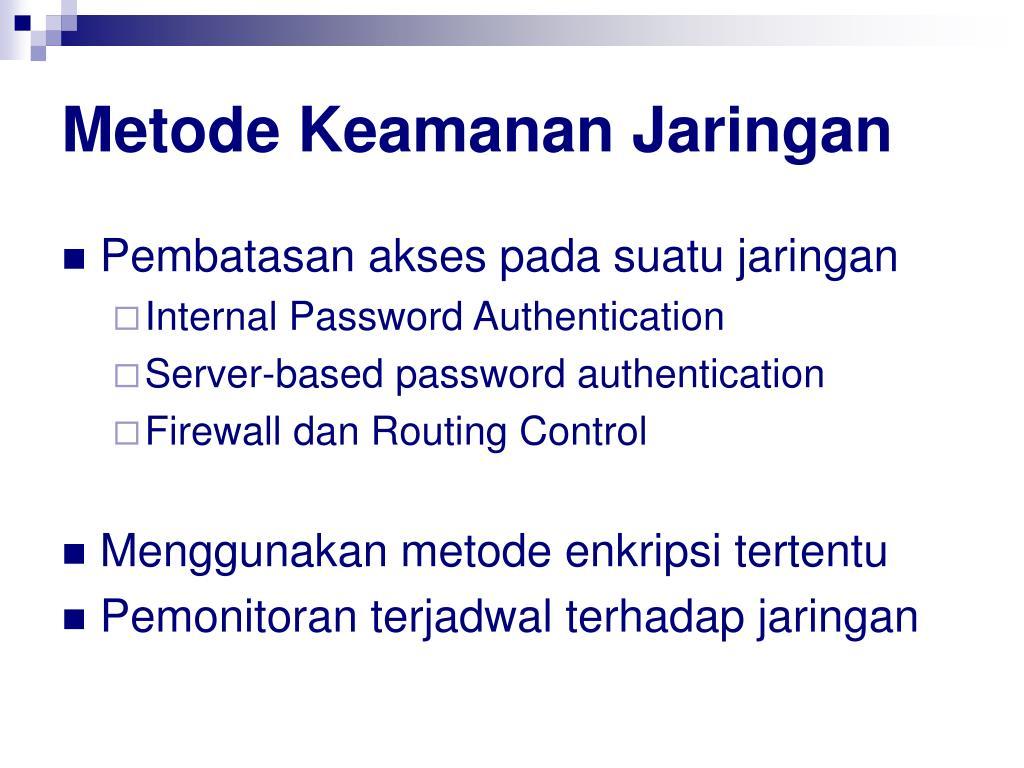 Metode Keamanan Jaringan
