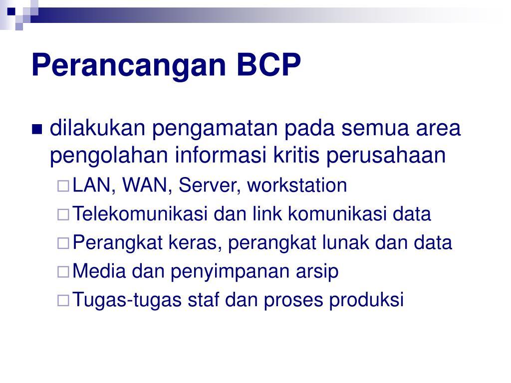Perancangan BCP