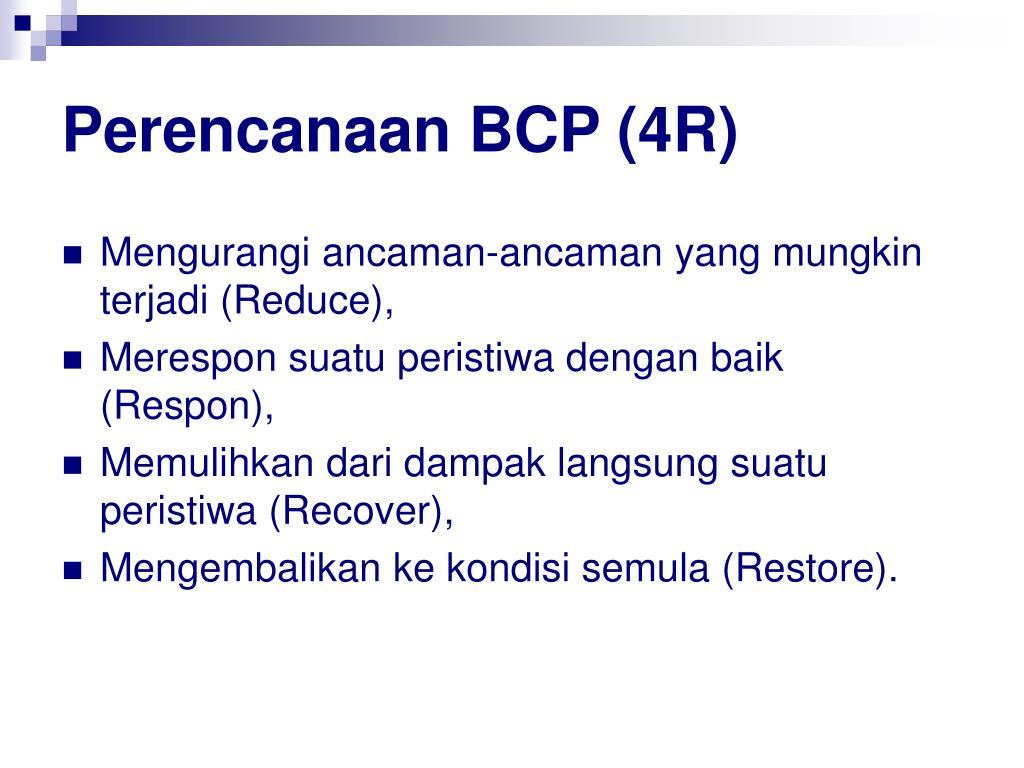 Perencanaan BCP (4R)