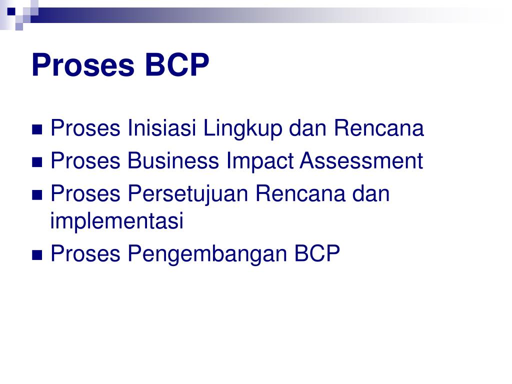 Proses BCP
