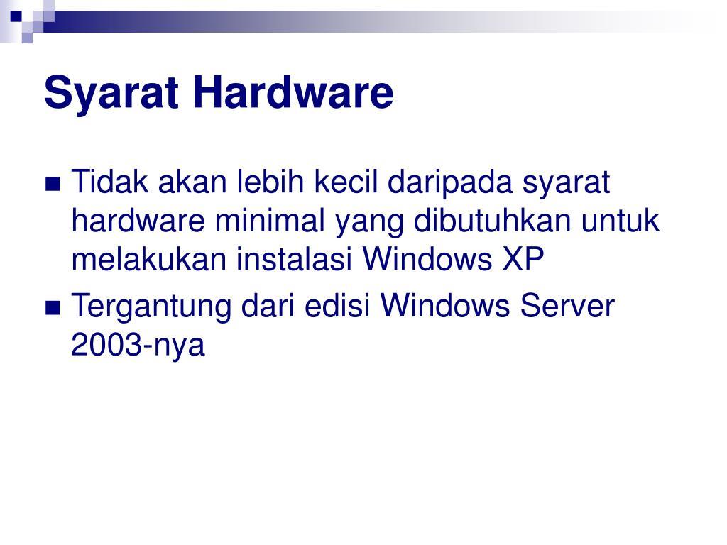 Syarat Hardware