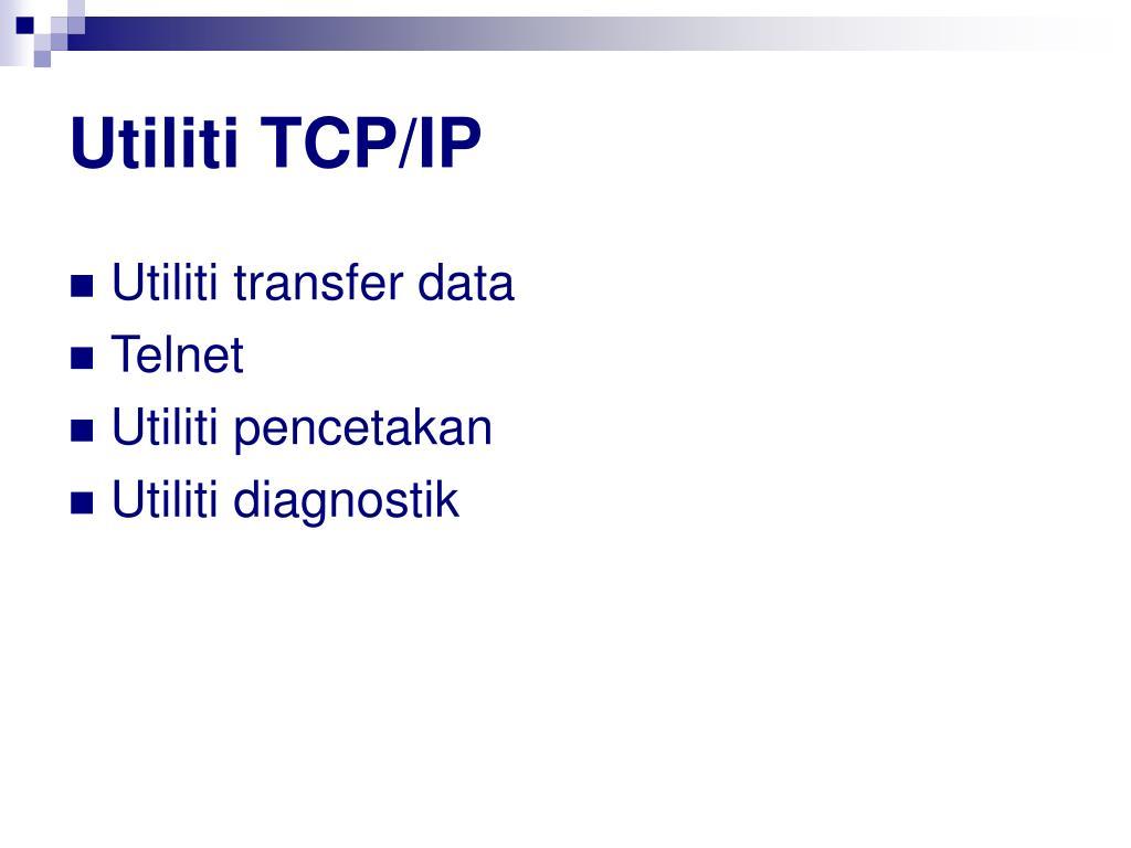Utiliti TCP/IP