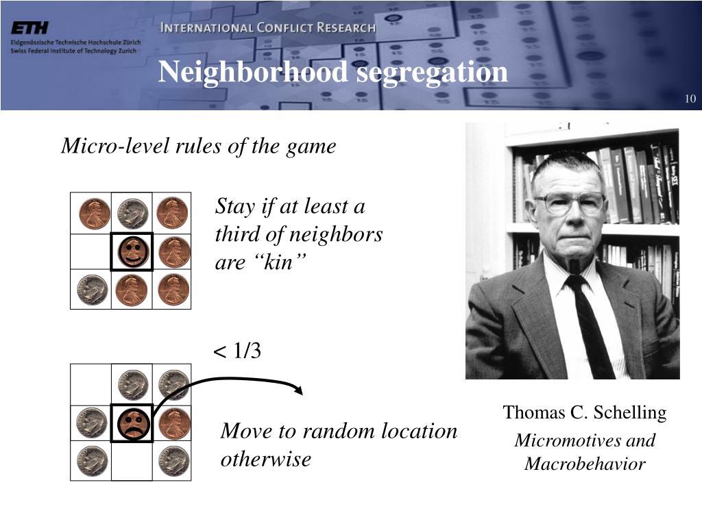 Neighborhood segregation