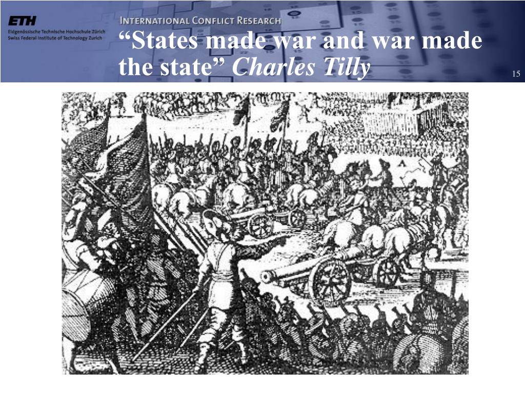 """States made war and war made the state"""